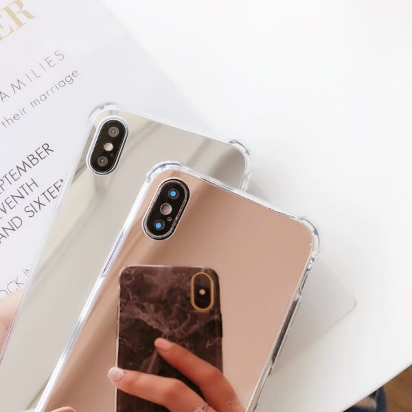 Esamday Luxury Mirror Electroplating Soft Shockproof Tpu Cases For X XS MAX XR Cover Protective cases 1