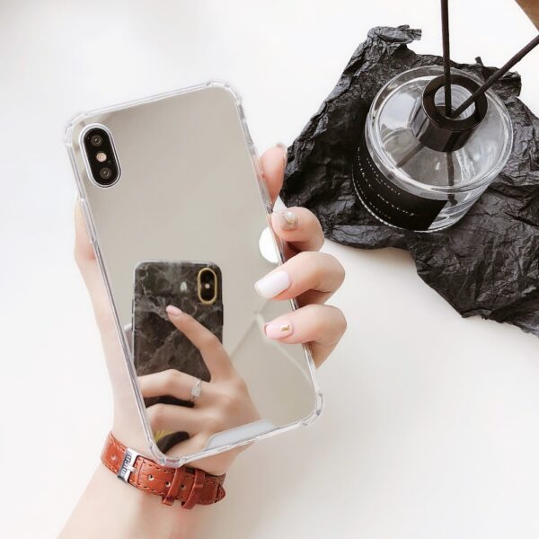 Esamday Luxury Mirror Electroplating Soft Shockproof Tpu Cases For X XS MAX XR Cover Protective cases 4