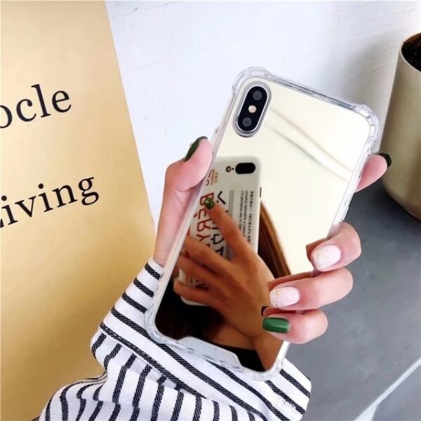 Esamday Luxury Mirror Electroplating Soft Shockproof Tpu Cases For X XS MAX XR Cover Protective