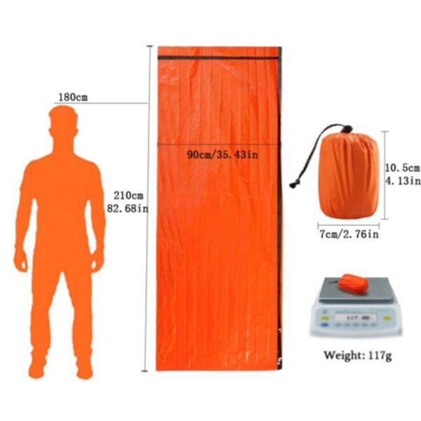 Outdoor Emergency Sleeping Bag Thermal Survival Camping Travel Bags Waterproof 1