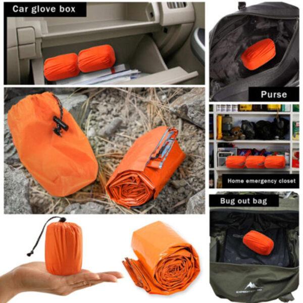 Outdoor Emergency Sleeping Bag Thermal Survival Camping Travel Bags Waterproof 4