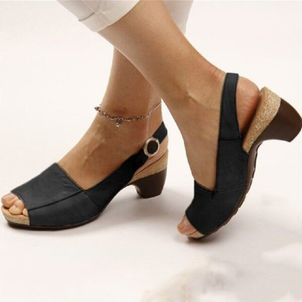 PU leather women roman sandals chunky mid heels vintage ladies shoes summer sexy open toe platform 1.jpg 640x640 1