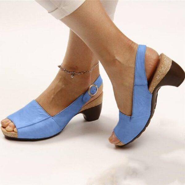 PU leather women roman sandals chunky mid heels vintage ladies shoes summer sexy open toe platform 2.jpg 640x640 2