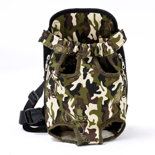 Pet Dog Carrier Backpack Mesh Camouflage Outdoor Travel Products Breathable Shoulder Handle Bags for Small Dog 4