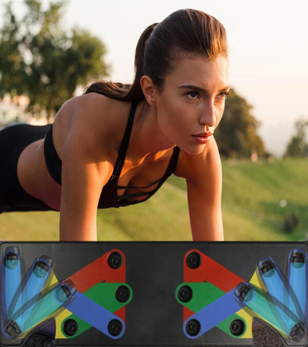 Push Up Rack Board Men Women 9 System Comprehensive Fitness Exercise Workout Push up Stands Body 5