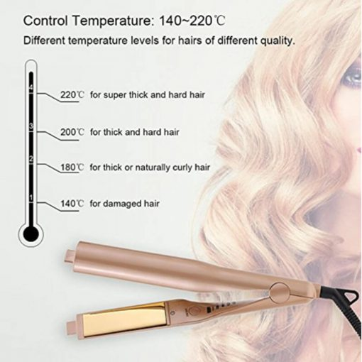Straightening Iron, Professional Hair Curling & Straightening Iron