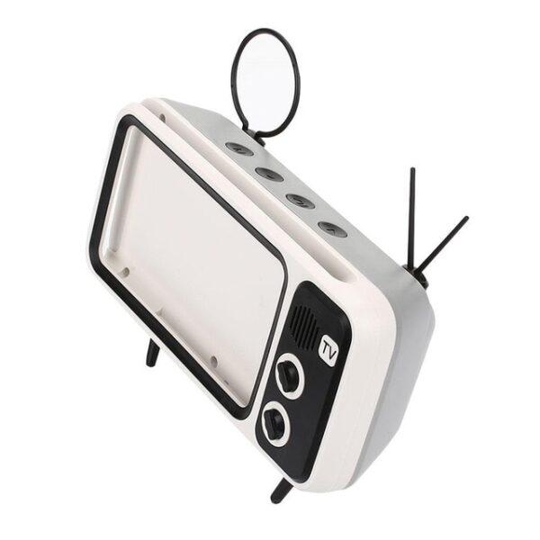 3 In 1 Wireless Peaker Retro TV Mini Portable Bluetooth Bass Speaker Mobile Phone Holder Speaker 1.jpg 640x640 1