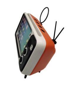 Retro TV Phone Holder & Speaker, 2-in-1 Retro TV Phone Holder & Speaker