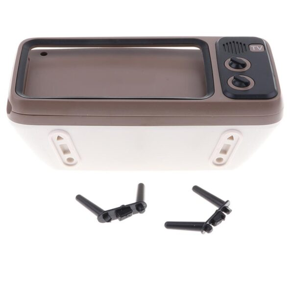 3 In 1 Wireless Peaker Retro TV Mini Portable Bluetooth Bass Speaker Mobile Phone Holder Speaker 4