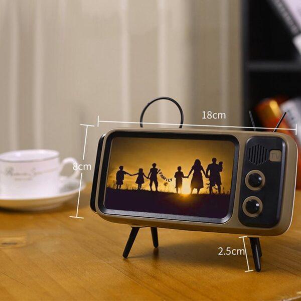 2-in-1 Retro TV Phone Holder & Speaker