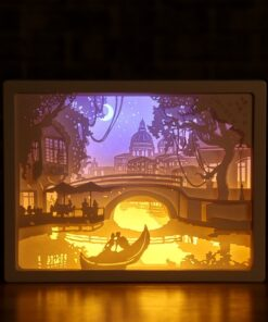 Paper Carving, 3D Paper Carving Night Lights
