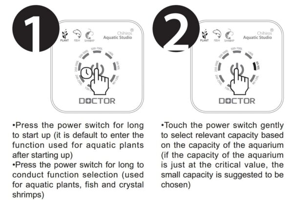 Chihiros generation Chihiros Doctor 3 IN 1 Algae Remove Twinstar Style Electronic inhibit Aquarium fish plant 10