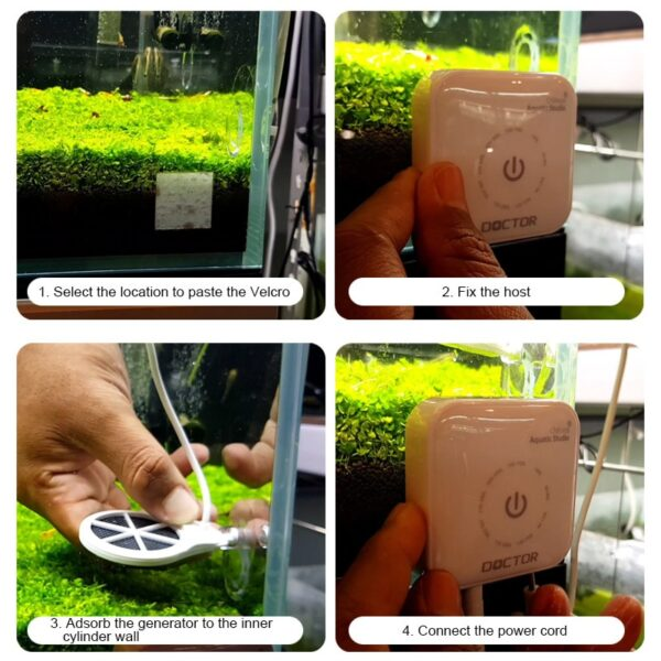 Chihiros generation Chihiros Doctor 3 IN 1 Algae Remove Twinstar Style Electronic inhibit Aquarium fish plant 9