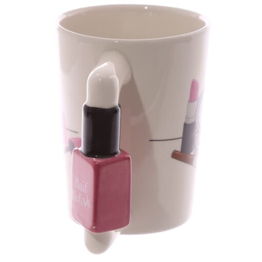 Nail Polish Handle Tea Coffee Mug, Nail Polish Handle Tea Coffee Mug