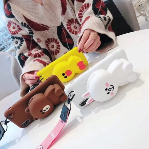 Cartoon Storage Phone Case, iPhone and SAMSUNG Cartoon Storage Phone Case
