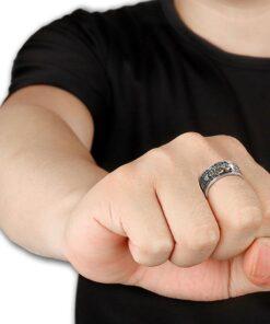 Feng Shui Pixiu Mani Mantra Protection Wealth Ring, Feng Shui Pixiu Mani Mantra Protection Wealth Ring