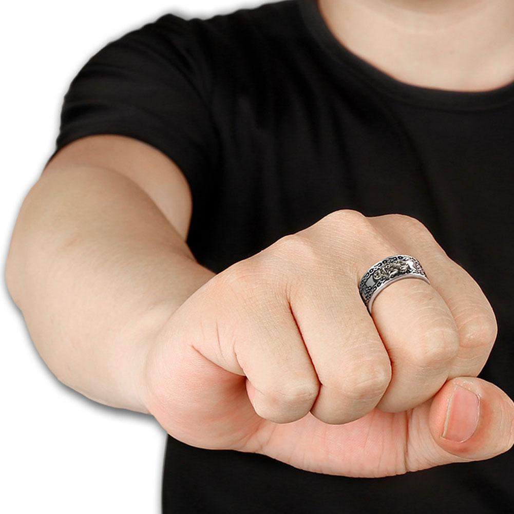 Feng Shui Pixiu Mani Mantra Protection Wealth Ring - Not sold in stores