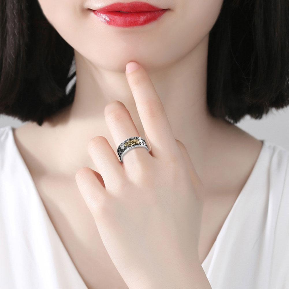 FENG SHUI PIXIU MANI MANTRA PROTECTION WEALTH RING HIGH QUALITY AK