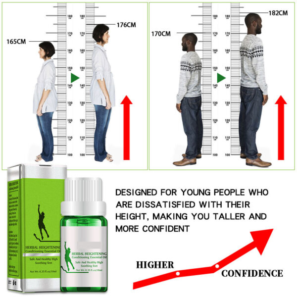 New Famous Brand Height Increasing Oil Medicine Body Grow Taller Essential Oil Foot Health Care Products 3 1