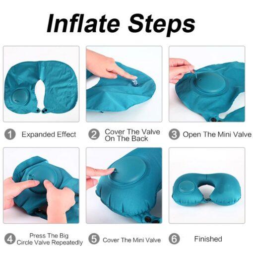 U Shape Inflatable Travel Pillow, U Shape Inflatable Travel Pillow