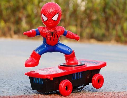 Spiderman/Iron Man Scooter Music Led Light Toys, Spiderman/Iron Man Scooter Music Led Light Toys