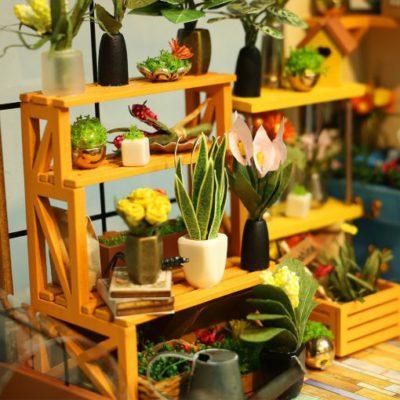 house, Miniature DIY Green Garden House