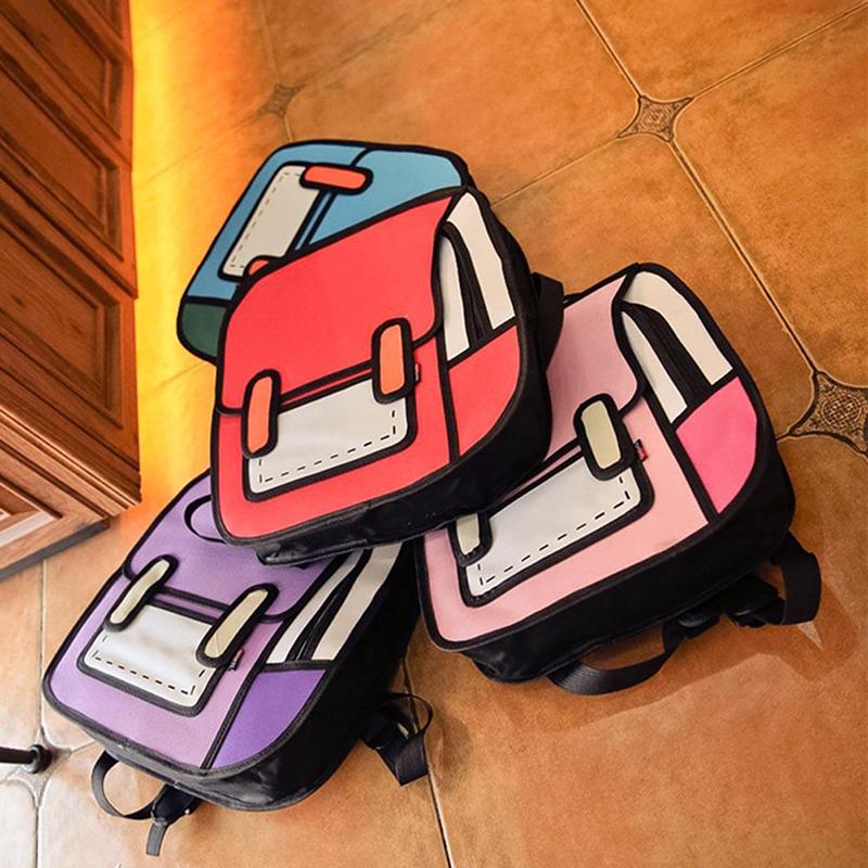 Cartoon Backpack, Cartoon Backpack