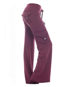 Kusog nga Kusog nga Bamboo Pocket Yoga Pants, Tuy-anan nga Soft Bamboo Pocket Yoga Pants