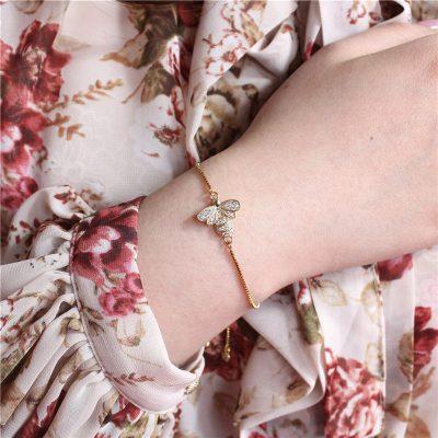 Crystal Bee Bracelet, Crystal Bee Bracelet