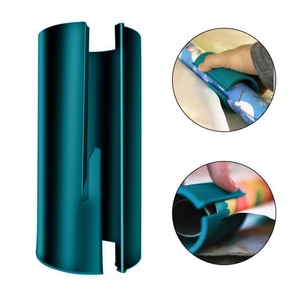 Sliding Wrapping Paper Cutter Present Wrap Packing Roll Cutter Tool Home Useful
