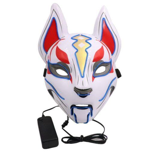 Fox Full Face Neon Mask, Fox Full Face Neon Mask