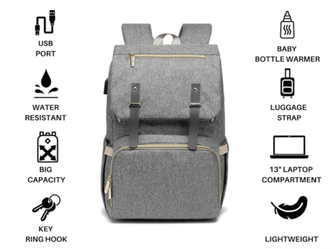 Premium USB Diaper Bag, Premium USB Diaper Bag