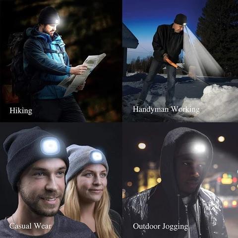 LED Winter Beanie - Unisex, LED Winter Beanie – Unisex