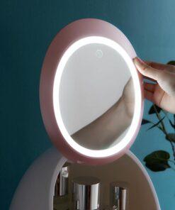 Ang LED Mirror makeup Cosmetic Organizer Box, LED Mirror makeup Cosmetic Organizer Box