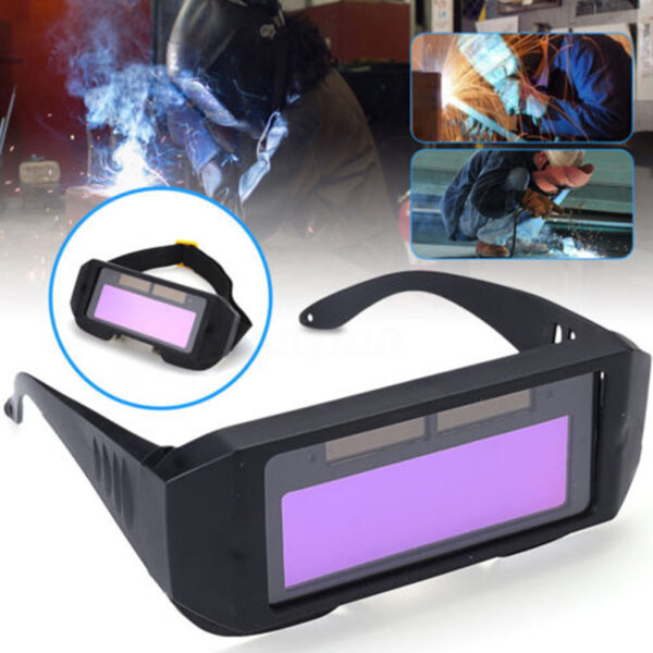 Auto Darkening Welding Helmet DIN11 Durable Automatic Light Change Anti Glare Eyes Shied Goggle Glasses Masks 4