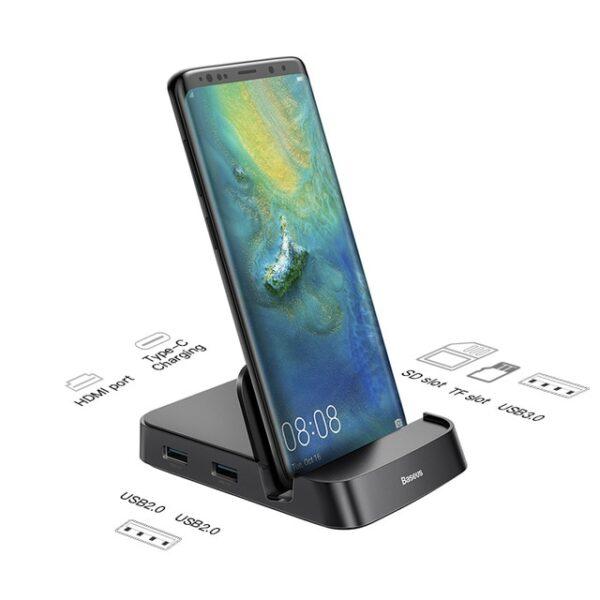 Baseus USB Type C HUB Docking Station For Samsung S10 S9 Dex Pad Station USB C 1.jpg 640x640 1