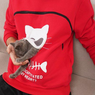 Sweatshirt Animal Pouch Hood Tops, Sweatshirt Animal Pouch Hood Tops