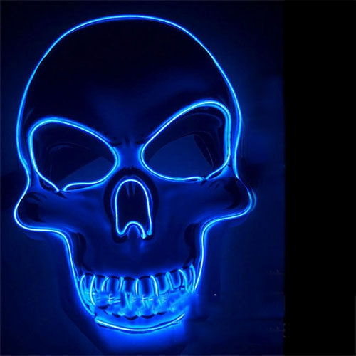 Halloween Skeleton LED Mask, Halloween Skeleton LED Mask