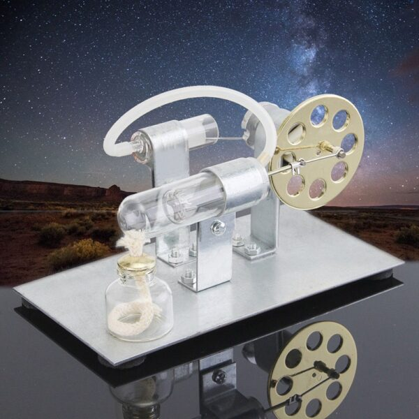 Hot Air Stirling Engine Model Electric Generator Motor Physics Steam Power Toy Lab Teaching Equipment 1