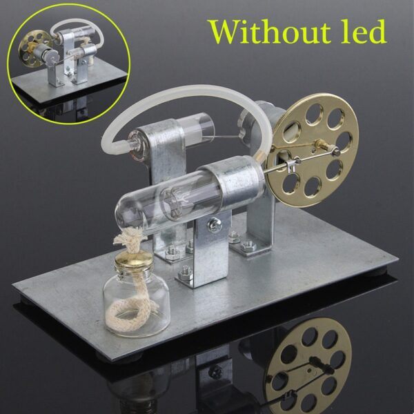 Hot Air Stirling Engine Model Electric Generator Motor Physics Steam Power Toy Lab Teaching Equipment 2