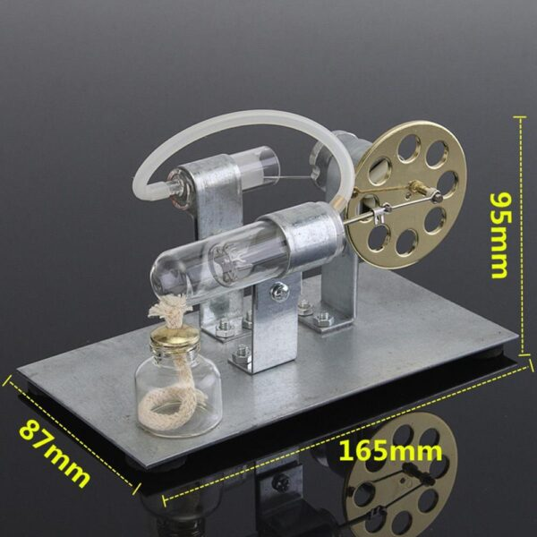 Hot Air Stirling Engine Model Electric Generator Motor Physics Steam Power Toy Lab Teaching Equipment 4
