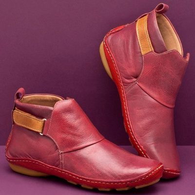 Comfy Daily Adjustable Soft Leather Booties, Comfy Daily Adjustable Soft Leather Booties