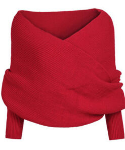Knitted Wrap Scarf With Sleeves, Knitted Wrap Scarf With Sleeves