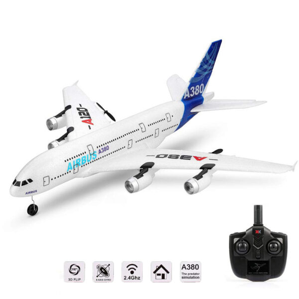 Wltoys XK A120 Airbus A380 Model Remote Control Plane 2 4G 3CH EPP RC Airplane Fixed 6