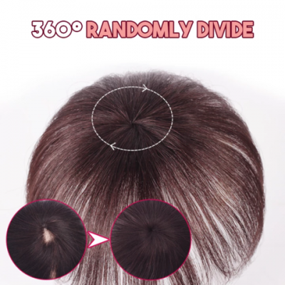 Silky Clip-On Hair Topper, Silky Clip-On Hair Topper