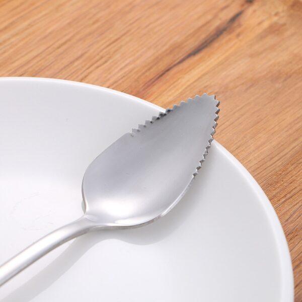 4PC Long Handle Stainless Steel Spoons Fruit Grapefruit Spoon Mirror Polishing Dessert Coffee Stirring Spoons Tea 1