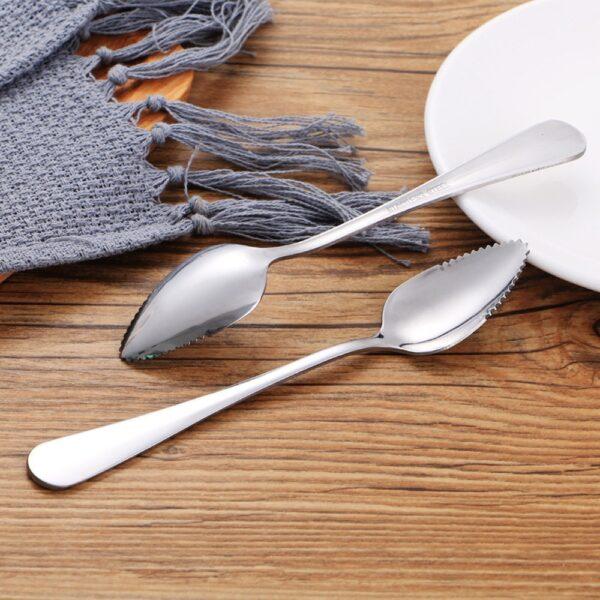 4PC Long Handle Stainless Steel Spoons Fruit Grapefruit Spoon Mirror Polishing Dessert Coffee Stirring Spoons Tea 4