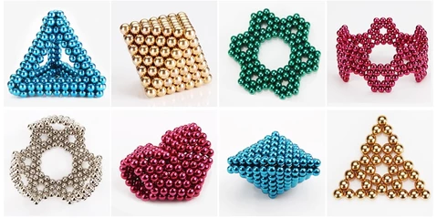 Multi Colored DigitDots 216 pieces Magnetic Balls, Multi Colored 216 pieces Magnetic Balls