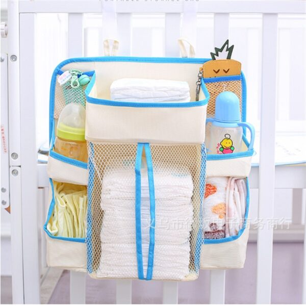 Baby Storage Holders Organizer Diaper Organizer Diaper Caddy Wipes Storage Creams Lotions Special Support for Crib 1