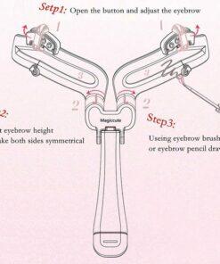 Adjustable Eyebrow Shapes Stencil, Adjustable Eyebrow Shapes Stencil